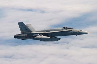Spanish AF F/A-18 Hornets Air to Air