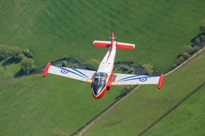 Jet Provost air to air
